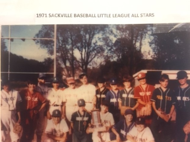1971 Sackville Baseball Little League All-Stars